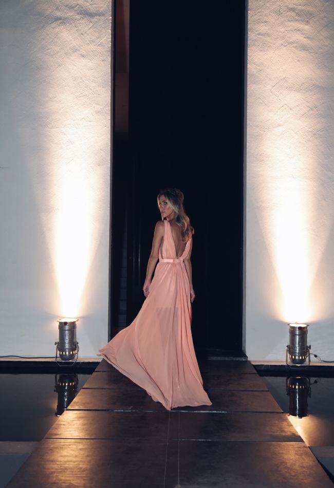 V Neck Maxi Dress with Slit
