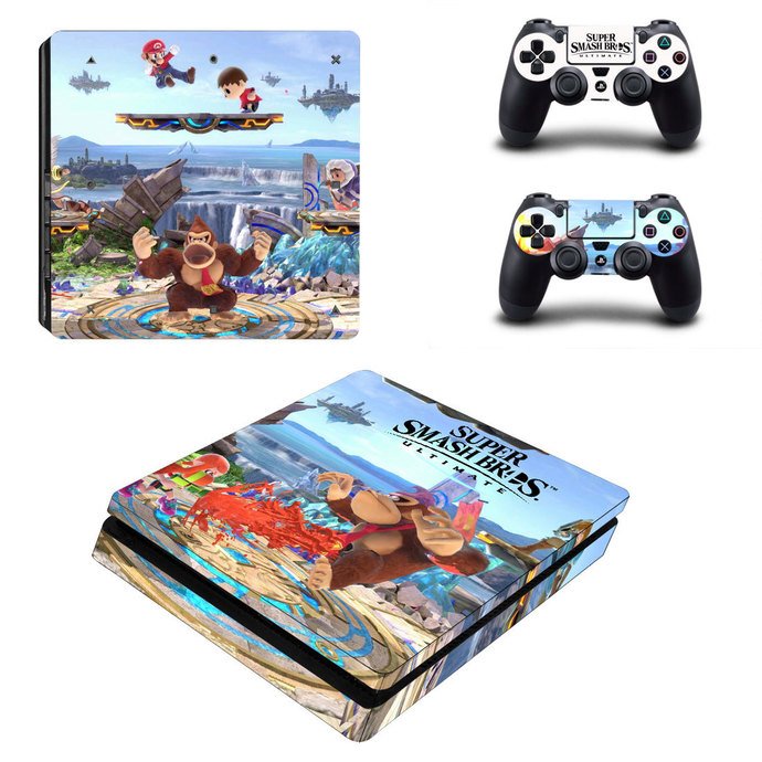 Super Smash Bros PS4 slim Skin for PlayStation 4 slim Console & Controllers