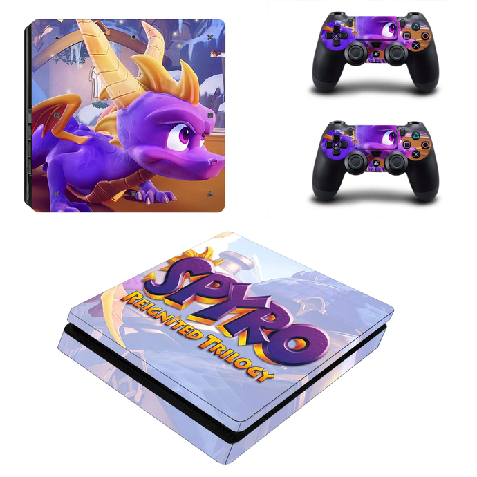 Spyro PS4 slim Skin for PlayStation 4 slim Console & Controllers