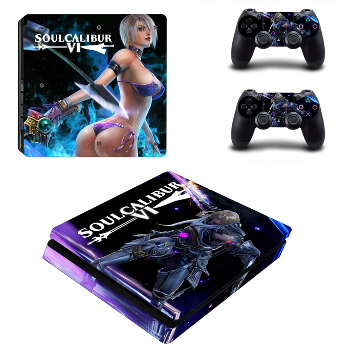 Soulcalibur 6 PS4 slim Skin for PlayStation 4 slim Console & Controllers