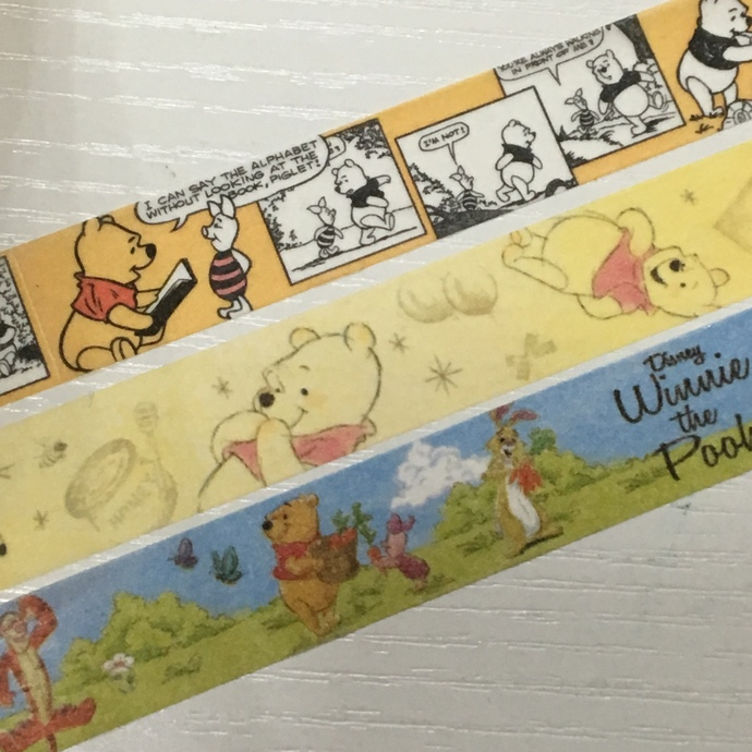 Japanese Disney Washi Tape (Pick 1): Winnie the Pooh