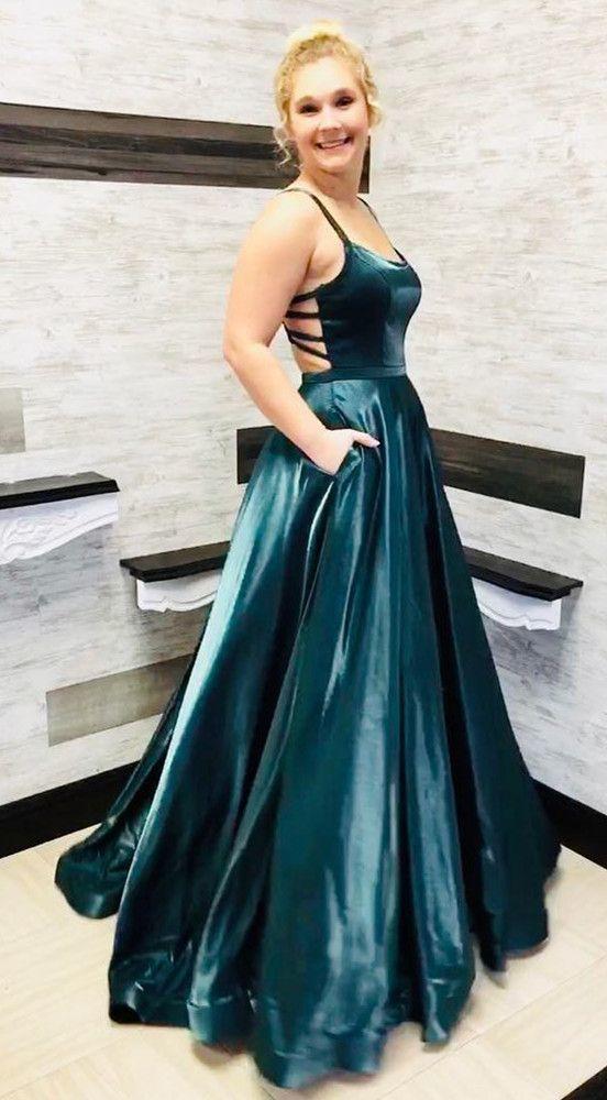 Beautiful elegant a line long prom dress, pretty graduation dress, backless long