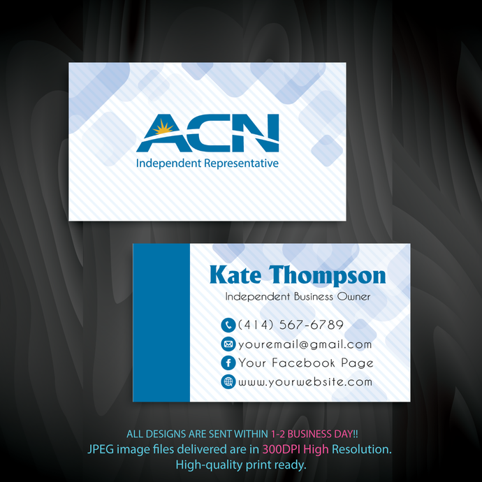 Personalized ACN Business Cards, ACN Business Cards, Custom ACN  Cards, ACN,