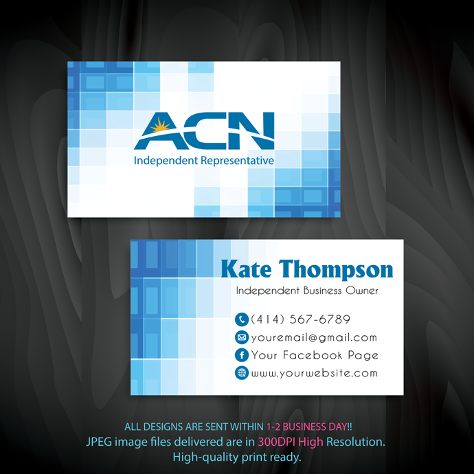 ACN Business Cards, Personalized ACN Business Cards, Custom ACN  Cards, ACN,