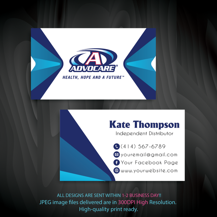 Advocare Business Cards, Personalized Advocare Business Cards,  Advocare,