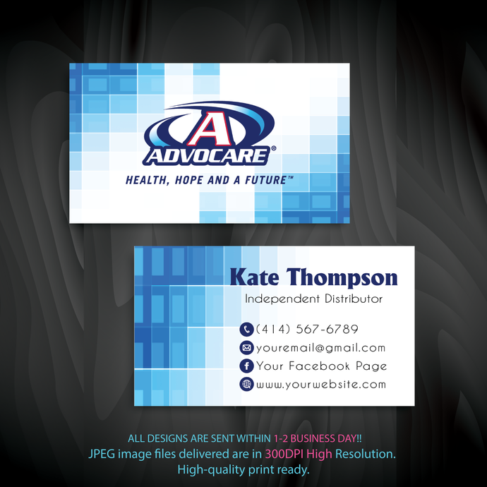 Advocare Business Cards, Advocare, Printable File, Personalized Advocare