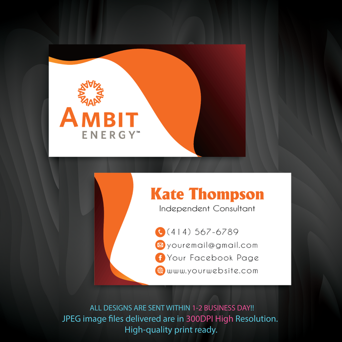 Personalized Ambit Business Cards, Ambit Business Cards, Ambit, Printable File,