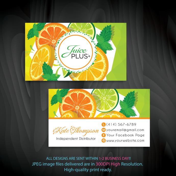 Personalized Juice Plus Business Cards, Juice Plus Business Cards, Custom Juice