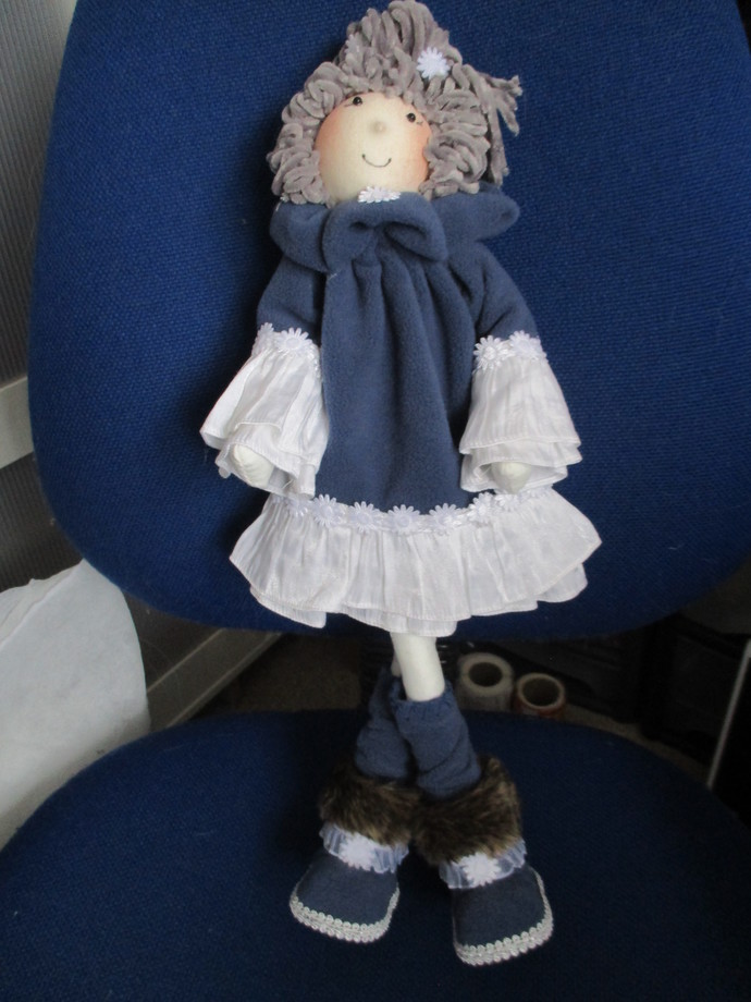 Meet Aggie - Vintage Style Fabric Doll - Display Only