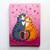 Grey and Ginger Tabby Love Cats Original Folk Art Acrylic Painting