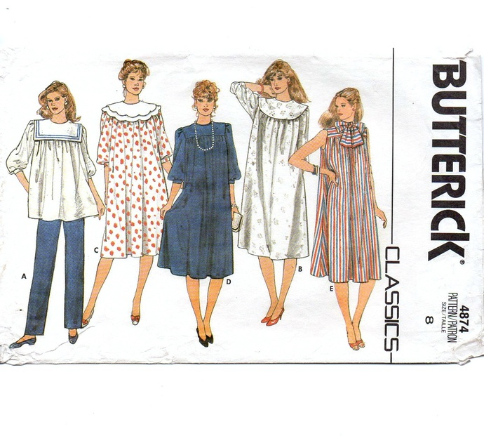 31e16ea866a Butterick 4874 Misses Maternity Dress