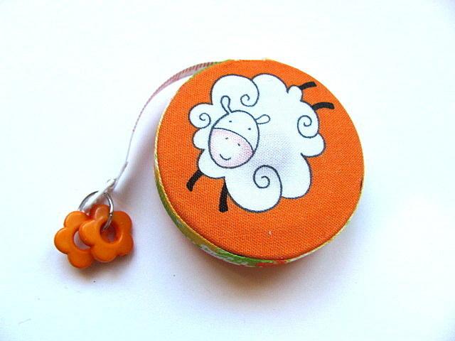Measuring Tape Sheep on Orange Retractable Tape Measure