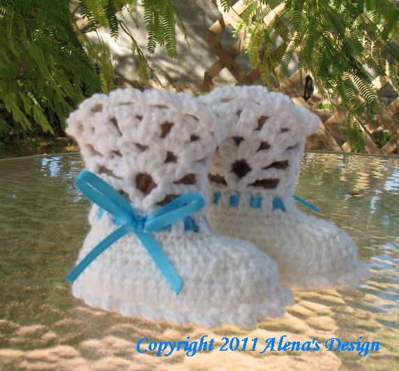 Baby Booties Crochet Pattern Crochet Pattern 029 Ribbon Crochet Booties Pattern