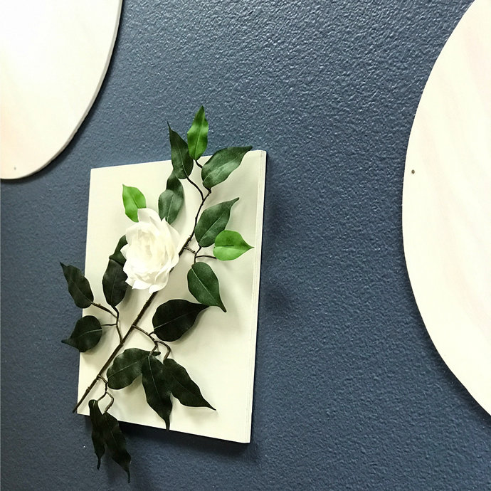 White Paper Flower 3d Wall Decor Wall Art Customizable Color