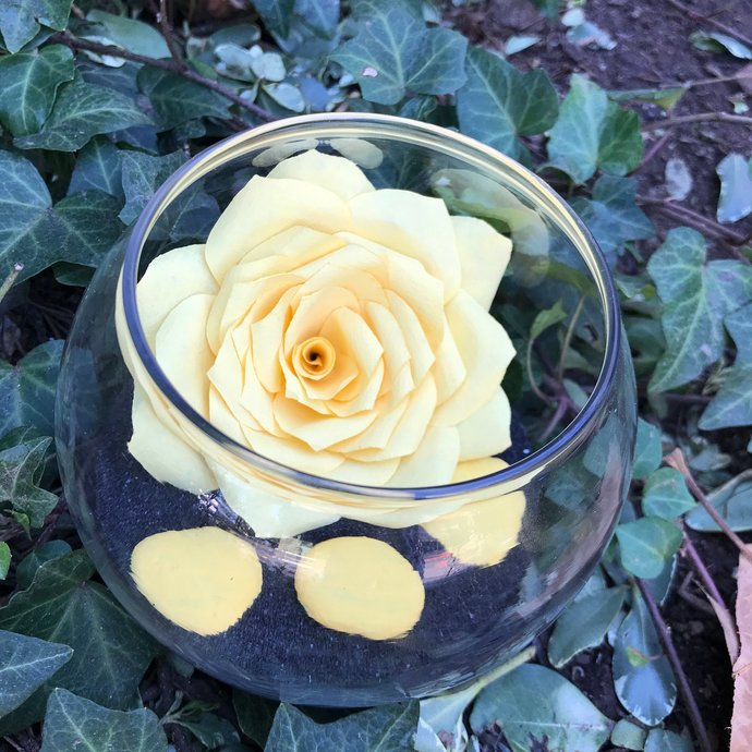 Paper rose sand terrarium garden - Home decor - Gift for her - Color Choices