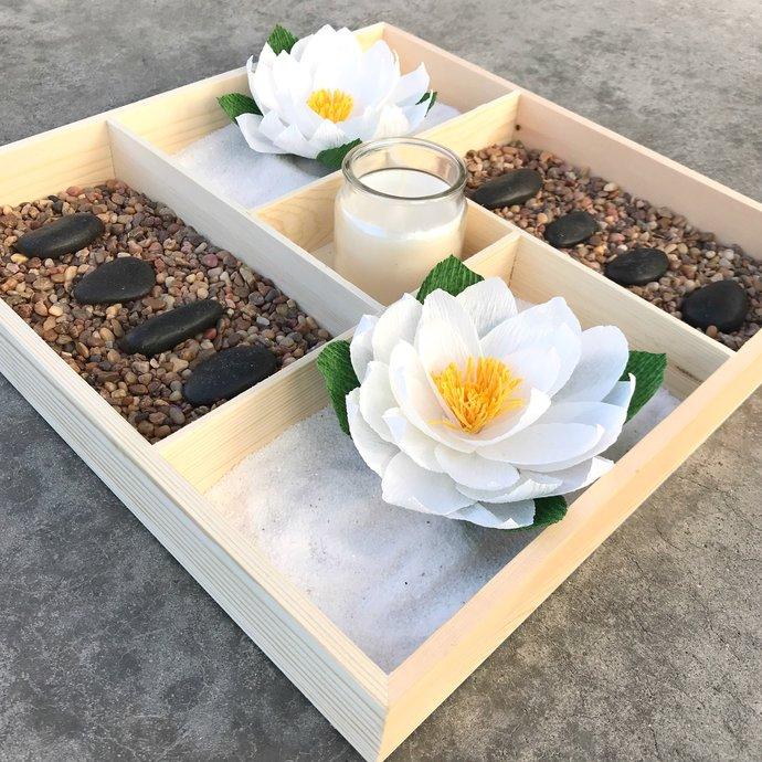 Indoor mini lotus & rock garden - Serenity garden