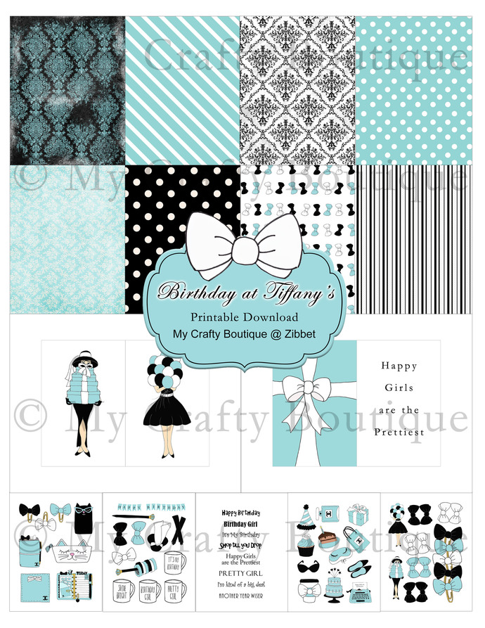 """Birthday at Tiffany's"" Printable Download"