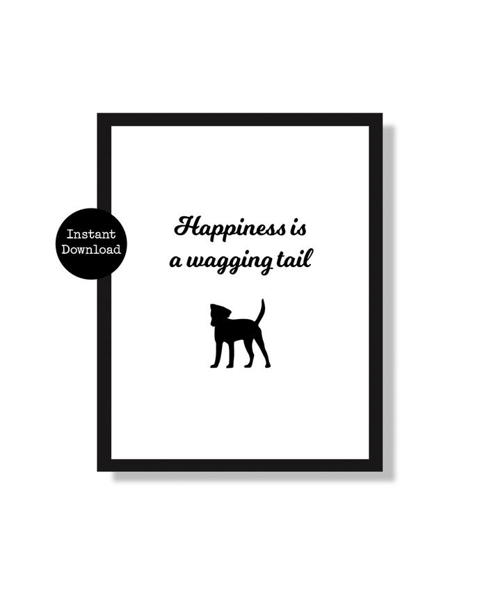 Printable Dog Lover Wall Art Sign