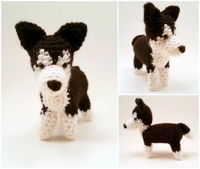 Husky (Black) Realistic Crocheted Plush - *READY TO SHIP*