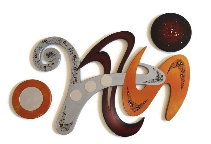 3 piece Handmade Contemporary abstract Wood Wall Sculpture hanging, Wall decor,