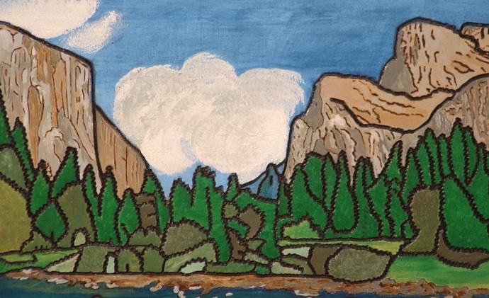National Park Yosemite, Wood Wall Art, Home Decor