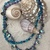 Glass and abalone necklace