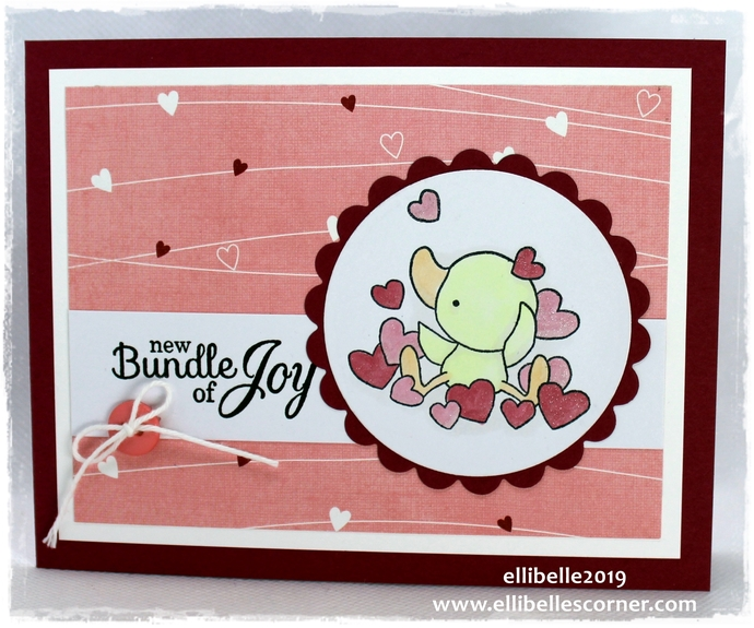 Bundle Of Joy - Handmade Card for Baby Girl, Unique Cute Greeting Card with