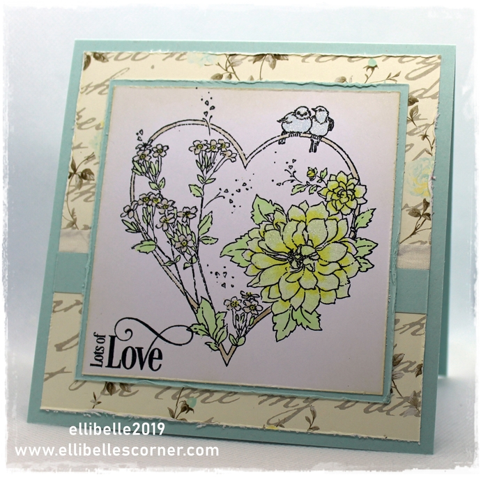 Lots of Love - Handmade Card for Valentines, Wedding and More, OOAK Greeting