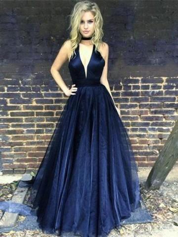 50ca18f9ea Navy Blue Prom Dresses