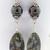 Lovely Rocks Earrings - handmade jasper brown rose pink white green boulder opal