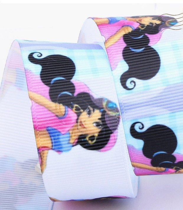 "Jasmine Princess Grosgrain Ribbon/ 1"" ( 25mm) width /Aladdin/Hair bow DIY/Head"