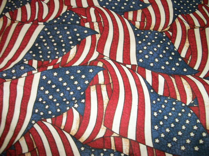 Patriots Navy Flags Cotton Fabric - Sewing craft supplies