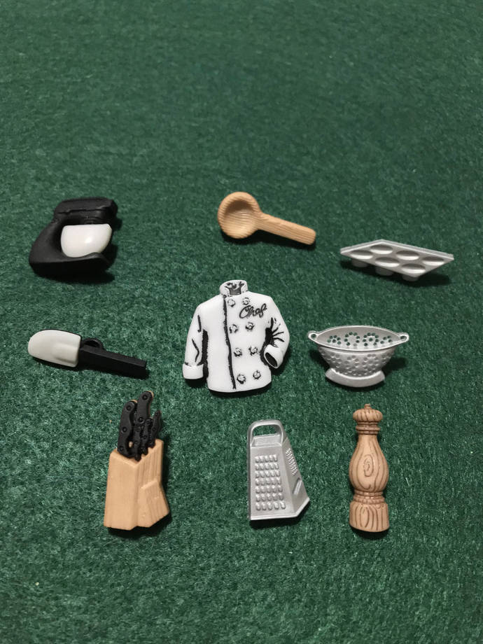 Master Chef Novelty Buttons/Sewing & Craft supplies/Plastic Buttons /Self