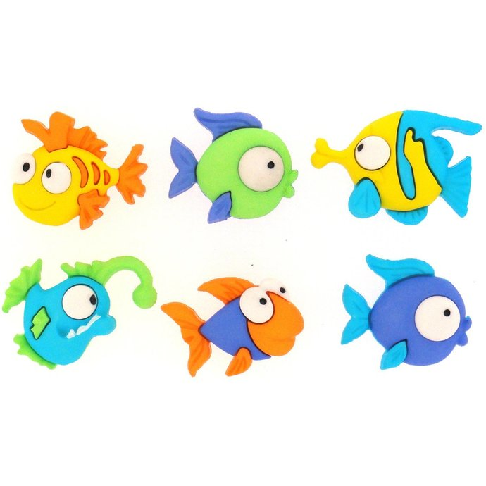 Something Fishy Plastic Buttons/ Sewing Supplies / DIY Craft supplies /Novelty