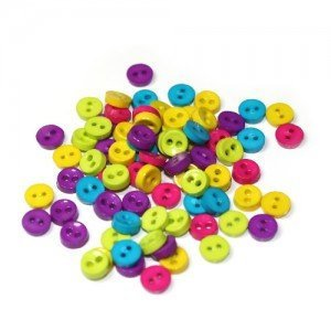 Mini Plastic Buttons /Two Holes Buttons/ Sewing Supplies/DIY Craft supplies
