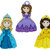 Pretty Princess Plastic Buttons / Sewing supplies / DIY craft supplies / Novelty