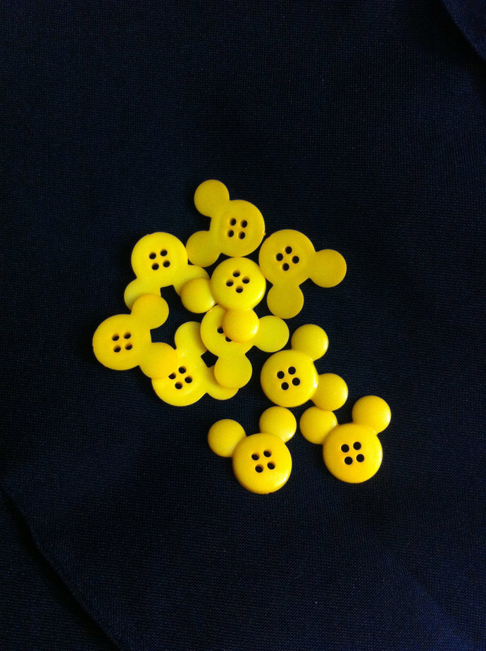 Mickey Mouse Plastic  Buttons/ Four holes Buttons /Sewing supplies / DIY craft