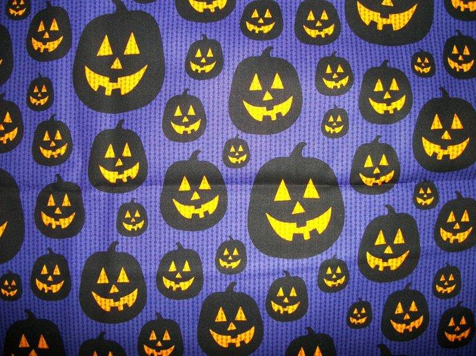 Pumpkin Parade Cotton Grape Fabric/Halloween Sewing Supplies/Sewing Craft
