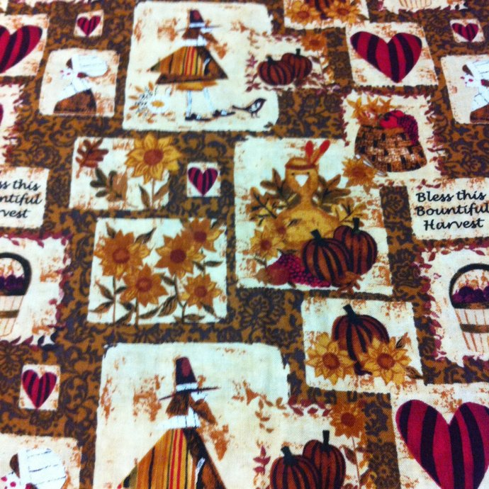 Bless this Harvest  Cotton Fabric - Autumn Sewing supplies/Sewing Craft Supplies
