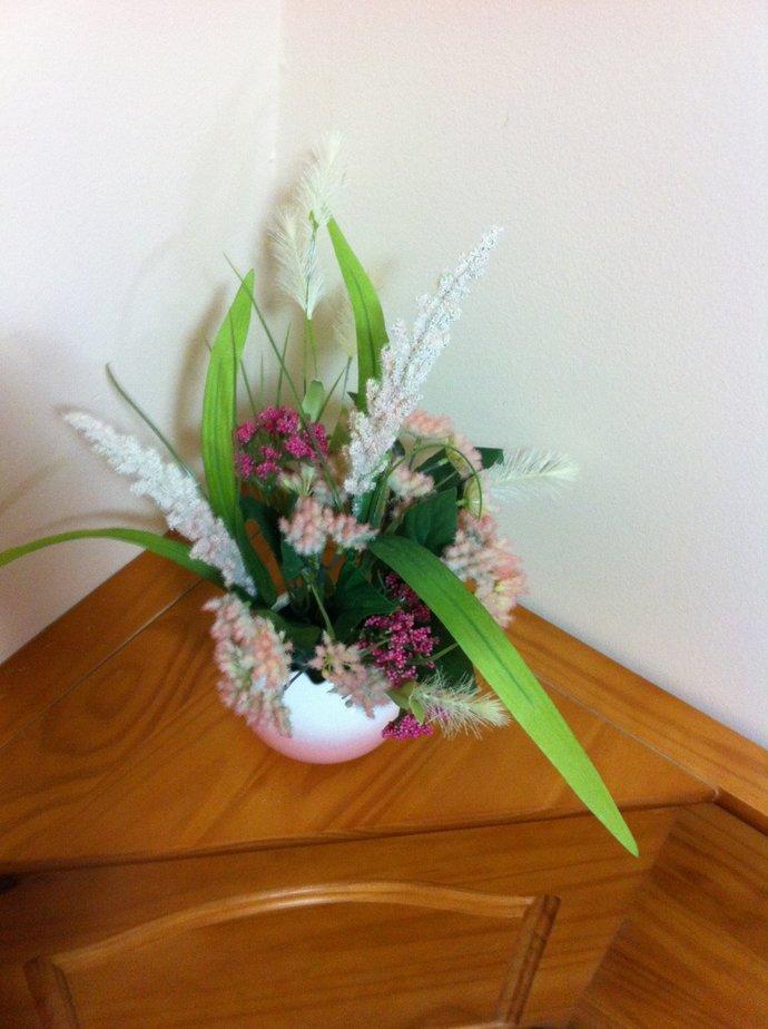 Silk Floral Arrangement/Easter Floral Centerpiece/Artificial Flower Arrangement