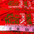 Christmas Joy to The World on red Cotton Fabric /Sewing Craft Supplies / Home