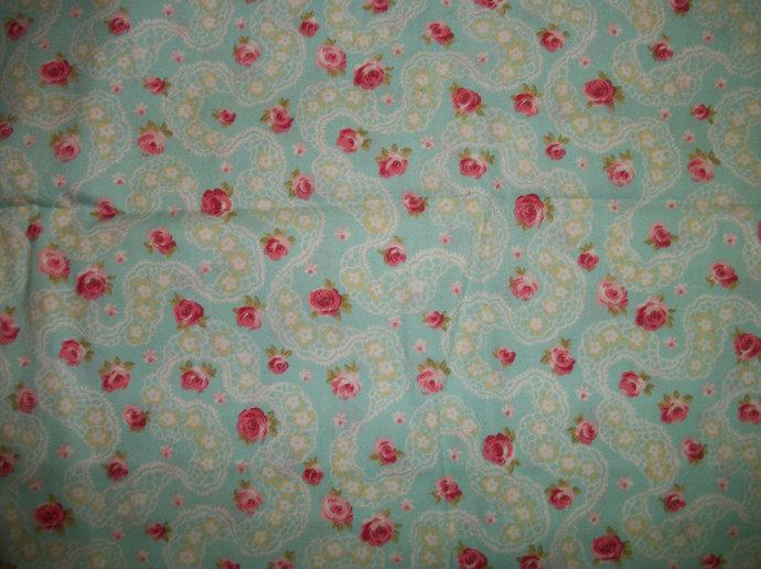 Renaissance Light Blue Cotton Fabric/ Sewing Supplies/ Suiting Fabric / Quilt