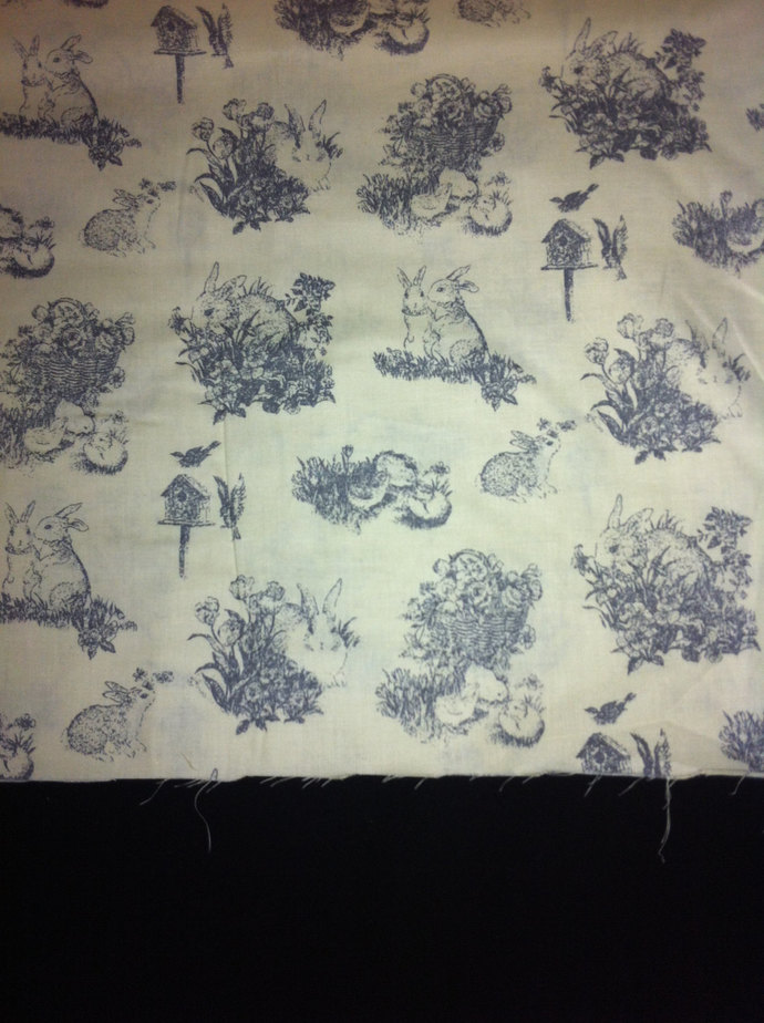 Easter Classic Toile Cotton Fabric/Light Yellow Classic Toile/Pastel soft color