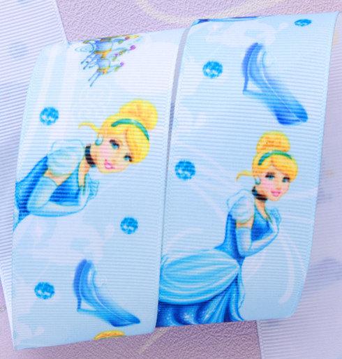 "Cinderella Princess  Printed Grosgrain Ribbon/ 1.5"" (38 mm ) width / Hair bow"