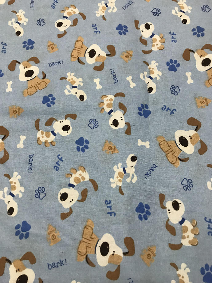 Dog Bark Cotton Fabric /Sewing Craft Supplies / Home Decor/ Quilting/Pets Print