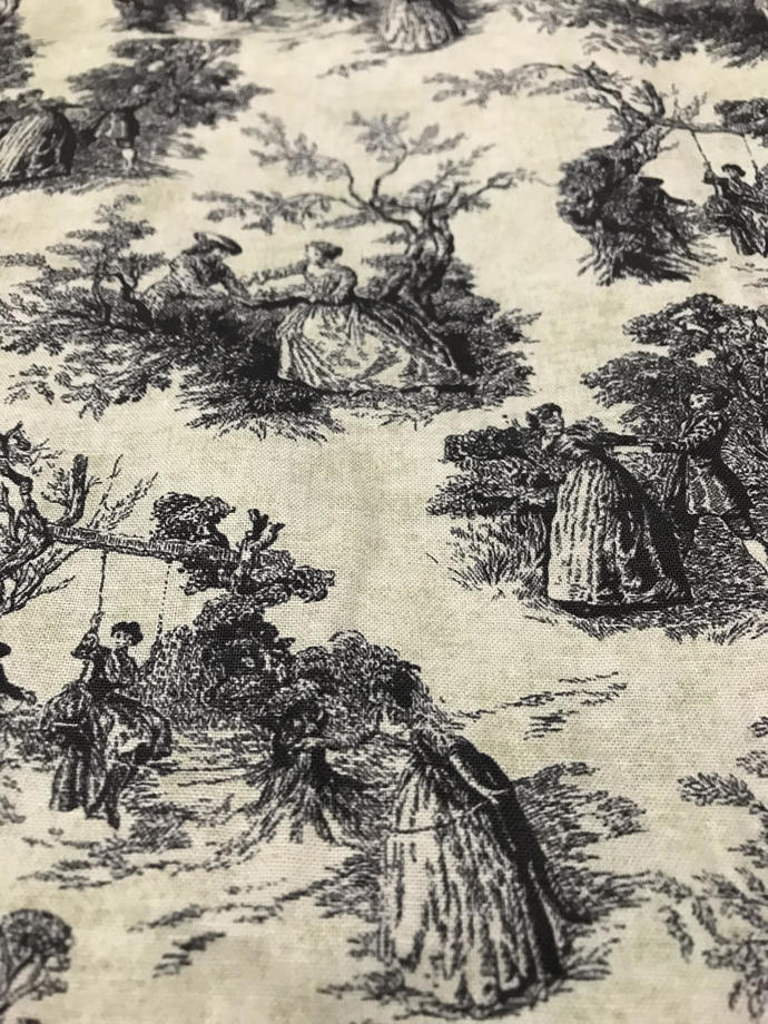 Park Walk Classic Toile Cotton Fabric/Sewing Craft Supplies/French