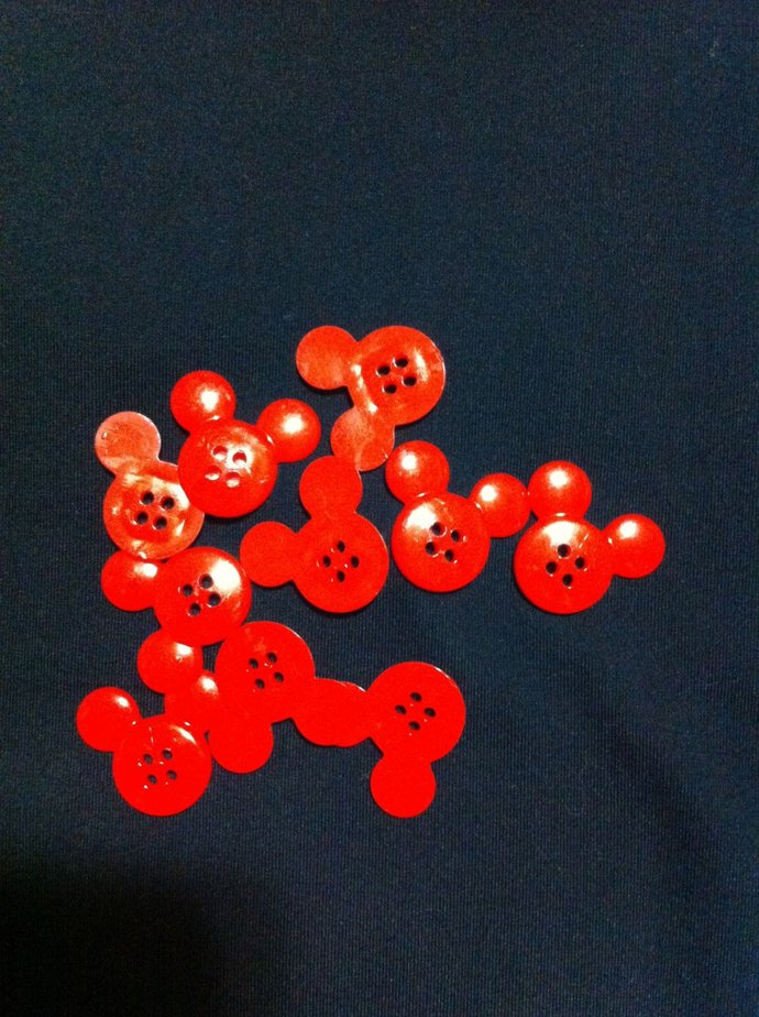 Mickey Mouse Plastic Buttons /Four Holes Buttons/ Sewing Supplies/DIY Craft