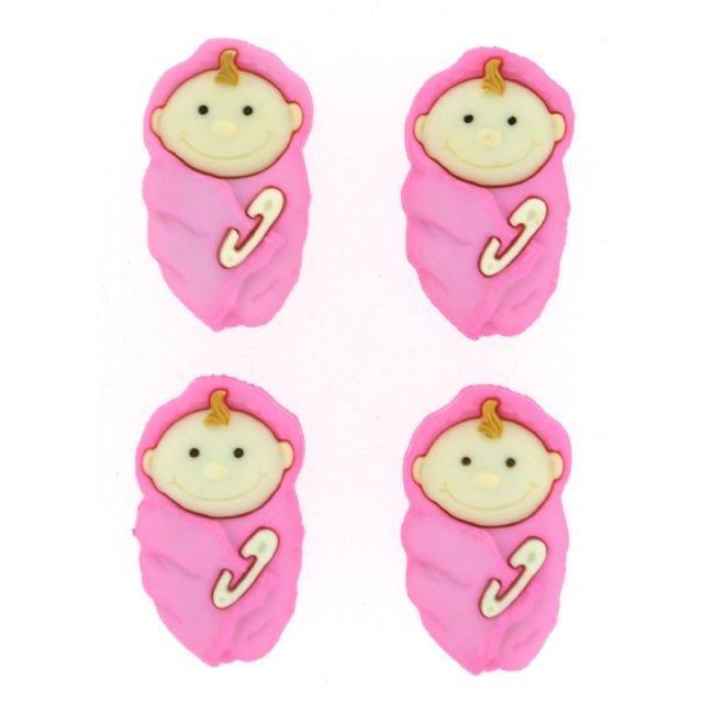 Baby Girls Plastic Buttons/ Sewing supplies / DIY craft supplies / Novelty