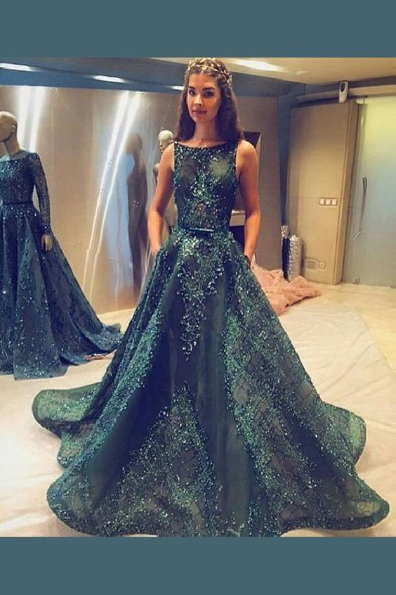 5c7dc92137b Appealing A-Line, Green, Long prom dresses unique prom dresses custom-made  dresses