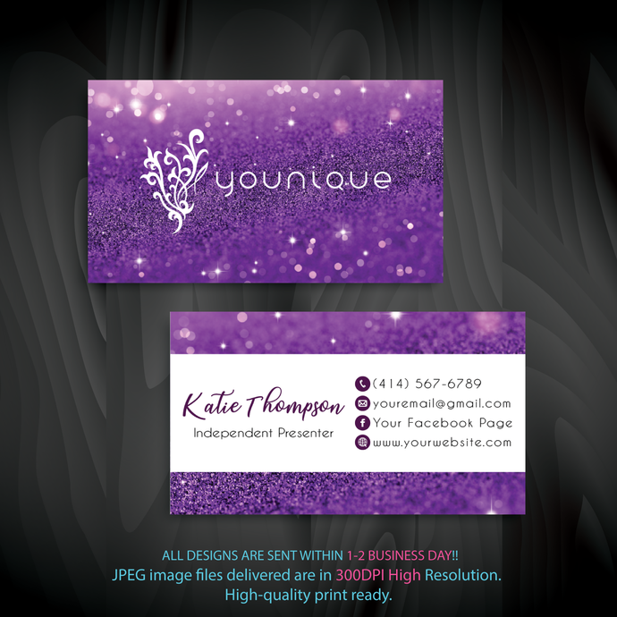 Custom Younique Cards, Custom Business Card, Personalized Younique Business